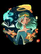 Fish Sorceress - Wizard RPG Stock Art