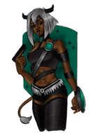 Tiefling Artificer - Sci Fi RPG Stock Art