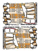 Kobolds Ate My Baby! In Colour!!! Character Sheets