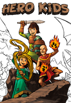 Hero Kids - Fantasy Supplement - Coloring Book - Threats to the Brecken Vale