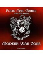 Pro RPG Audio: Modern War Zone