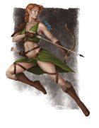 Lema Stockart #17: Wood Elf female
