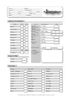 Iluminados, hoja de personaje (character sheet)