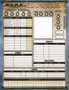 Torg Eternity - Hoja de personaje (character sheet)