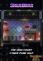 Map - Cyberpunk Bar - The High Court (31x20)