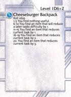 Cheeseburger Backpack - Custom Card