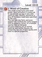 1 Word Of Creation - Custom Card