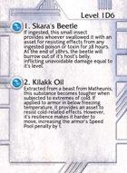 1. Skara's Beetle - Custom Card