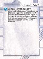 Aldus' Infectious Joy - Custom Card
