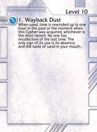 1. Wayback Dust - Custom Card