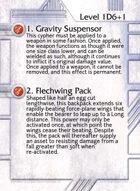 1. Gravity Suspensor - Custom Card