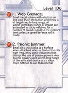 1. Web Grenade: - Custom Card
