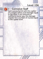 1 - Corrosive Staff - Custom Card