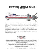 Expanded Vehicle Rules