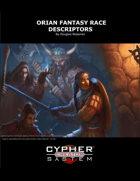 Orian Fantasy Race Descriptors
