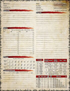 Oubliette Second Edition Character Sheets