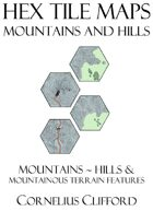 Hex Tile Maps - Mountains and Hills Pack