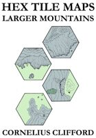 Hex Tile Maps - Larger Mountains expansion pack