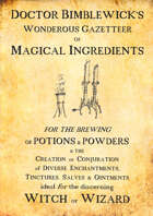 Magical Fantasy Ingredients for Witches and Wizards