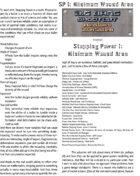 Big Bang Shootout: Stopping Power I: Minimum Wound Area
