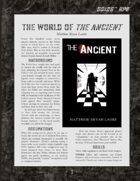 D6xD6 RPG World of The Ancient