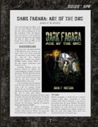 D6xD6 RPG Dark Fagara: Age of the Orc World Setting