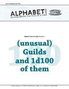 Alphabet Soup, GM Advice Document, 100 Guilds