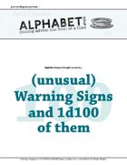 Alphabet Soup, GM Advice Document, 100 Warning Signs