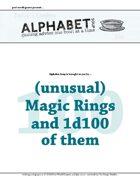 Alphabet Soup, GM Advice Document, 100 Magic Rings