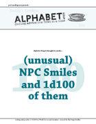 Alphabet Soup, GM Advice Document, 100 Smiles