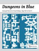 Dungeons in Blue - Mega Tile Five Pack #7 [BUNDLE]
