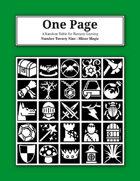 One Page Number Twenty Nine: Minor Magic