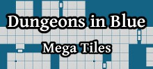 Dungeons in Blue Mega Tiles