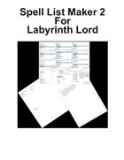 Spell List Maker 2 For Labyrinth Lord