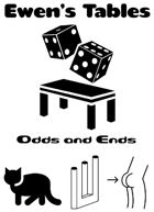 Ewen's Tables: Odds and Ends