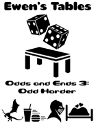Ewen's Tables: Odds and Ends 3: Odd Harder