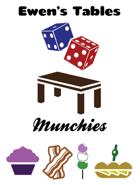 Ewen's Tables: Munchies