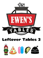 Ewen's Tables: Leftover Tables 2