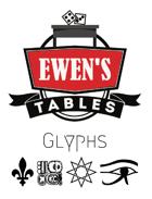 Ewen's Tables: Glyphs