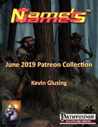 Name's Games June 2019 Collection