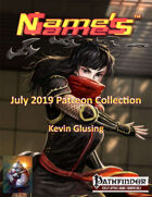 Name's Games July 2019 Collection