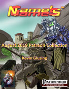 Name's Games August 2019 Collection