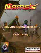 Name's Games May 2020 Collection
