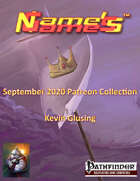 Name's Games September 2020 Collection