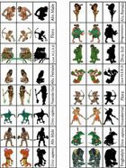 Figure Flats for the Sticks & Stones Prehistoric-ish Role-Playing Setting for Savage Worlds