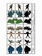 Figure Flats for the Sticks & Stones Prehistoric-ish Role-Playing Setting #2: Bigga Stuff!
