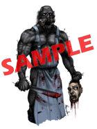 Image- Stock Art- Stock Illustration- Halloween butcher with machete
