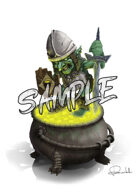 Image- Stock Art- Stock Illustration- Goblin with armor, the gold protector