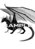 Image- Stock Art- Stock Illustration- Creature Dragon Black
