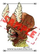 Image - Stock Art - Grayscale - Stock Illustration - Dark wizard